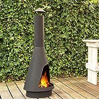 La Luz Gartenkamin silber XXL Garden Oven