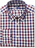 IZOD Men's Regular Fit Stretch Multi Gingham Dress Shirt