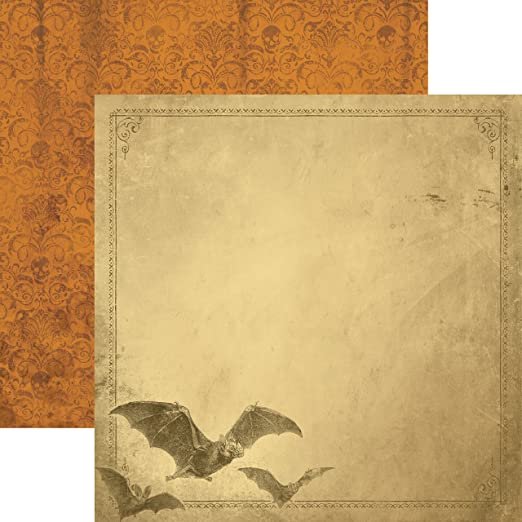 15 Pack Paper House Productions P-2037E Double Sided Bats Paper 12