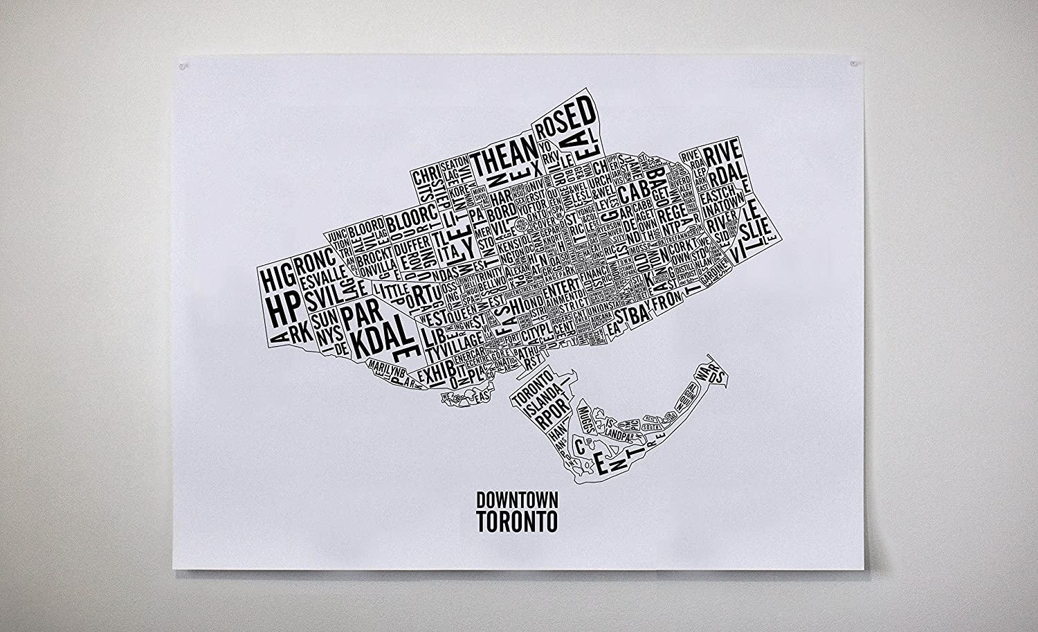 Downtown Toronto Neighbourhoods & Landmarks City Map - Toronto Art