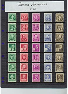 1940 Famous American Series Complete Set Of 35 Stamps