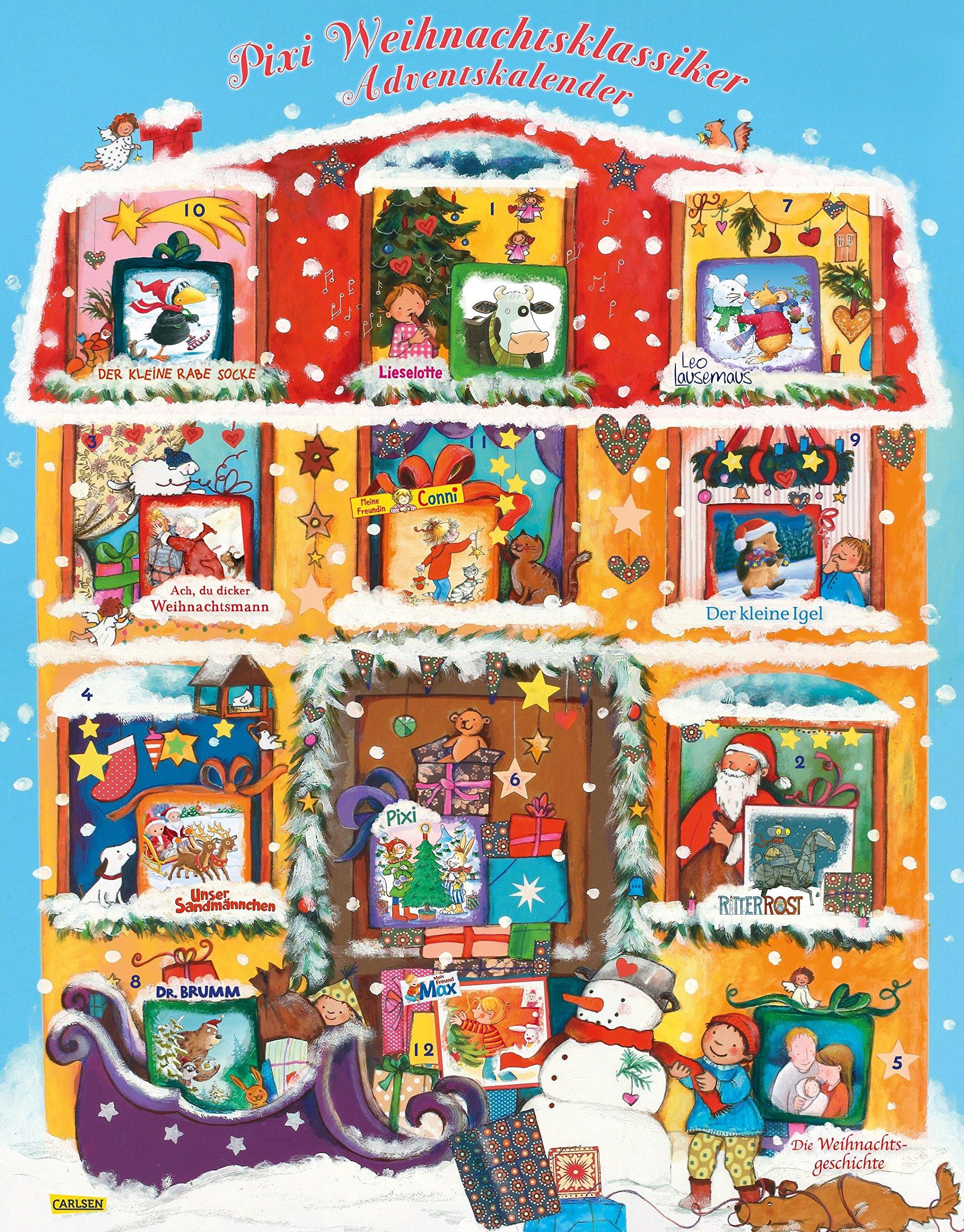 Pixi Adventskalender mit Weihnachts-Bestsellern 2018: Adventskalender mit 22 Pixi-Büchern und 2 Maxi-Pixi Kalender – 25. Juli 2018 Diverse Carlsen 3551041717 1674592