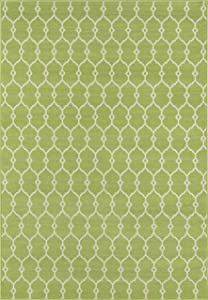 """Momeni Rugs , Baja Collection Contemporary Indoor & Outdoor Area Rug, Easy to Clean, UV protected & Fade Resistant, 1'8"""" x 3'7"""", Green"""