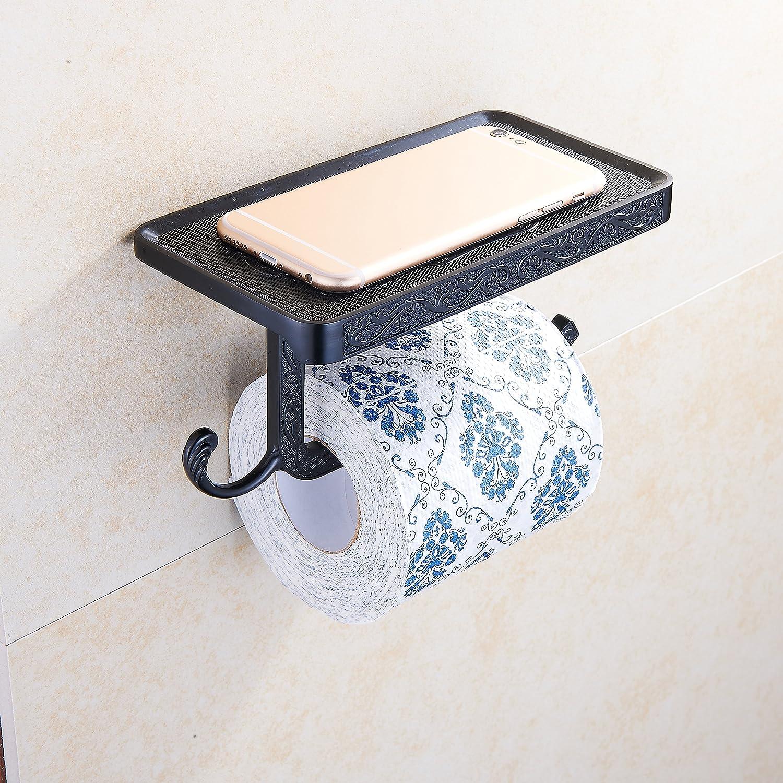 YJYMAX Porte Rouleau Papier Toilette Dérouleur Accessoirs WCDéco - Porte rouleau papier toilette