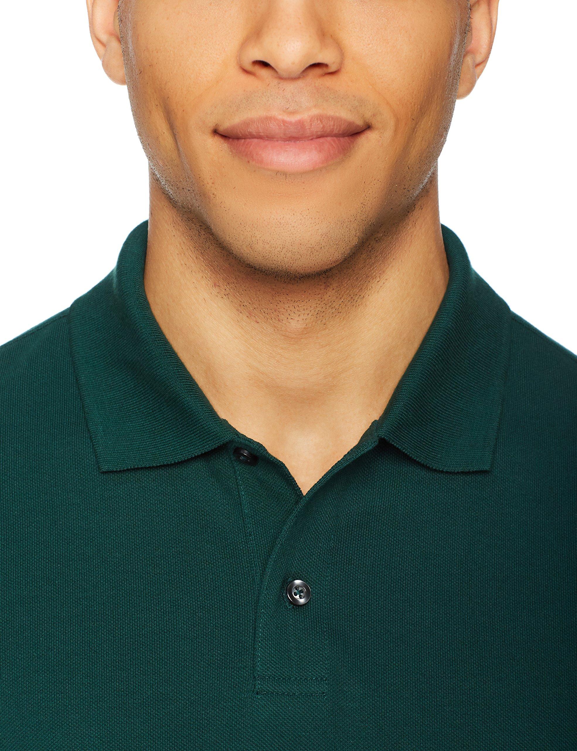 Amazon Essentials Men's Slim-Fit Cotton Pique Polo Shirt, Hunter Green, Large by Amazon Essentials (Image #5)
