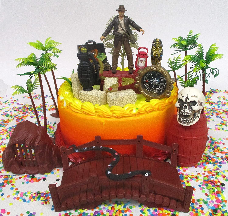 Excellent Amazon Com Indiana Jones Birthday Cake Topper Set Featuring Funny Birthday Cards Online Inifodamsfinfo