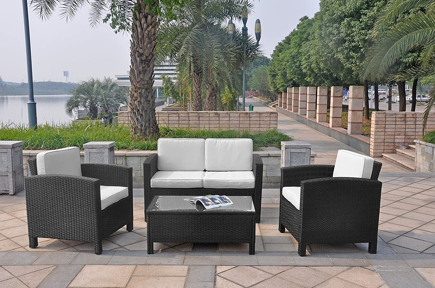 xinro 13tlg deluxe lounge m bel set gruppe garnitur gartenm bel lounge set rattan polyrattan. Black Bedroom Furniture Sets. Home Design Ideas