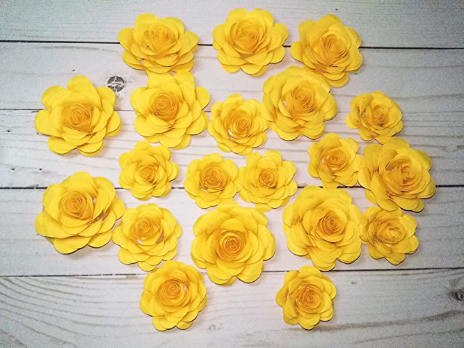 Amazon Com Small Paper Flowers Party Favors Baby Shower Wedding