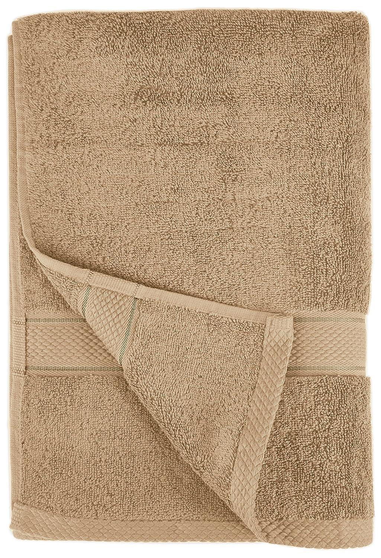 Pinzon by Amazon - Juego de toallas de algodón egipcio (2 toallas de baño), color beige: Amazon.es: Hogar