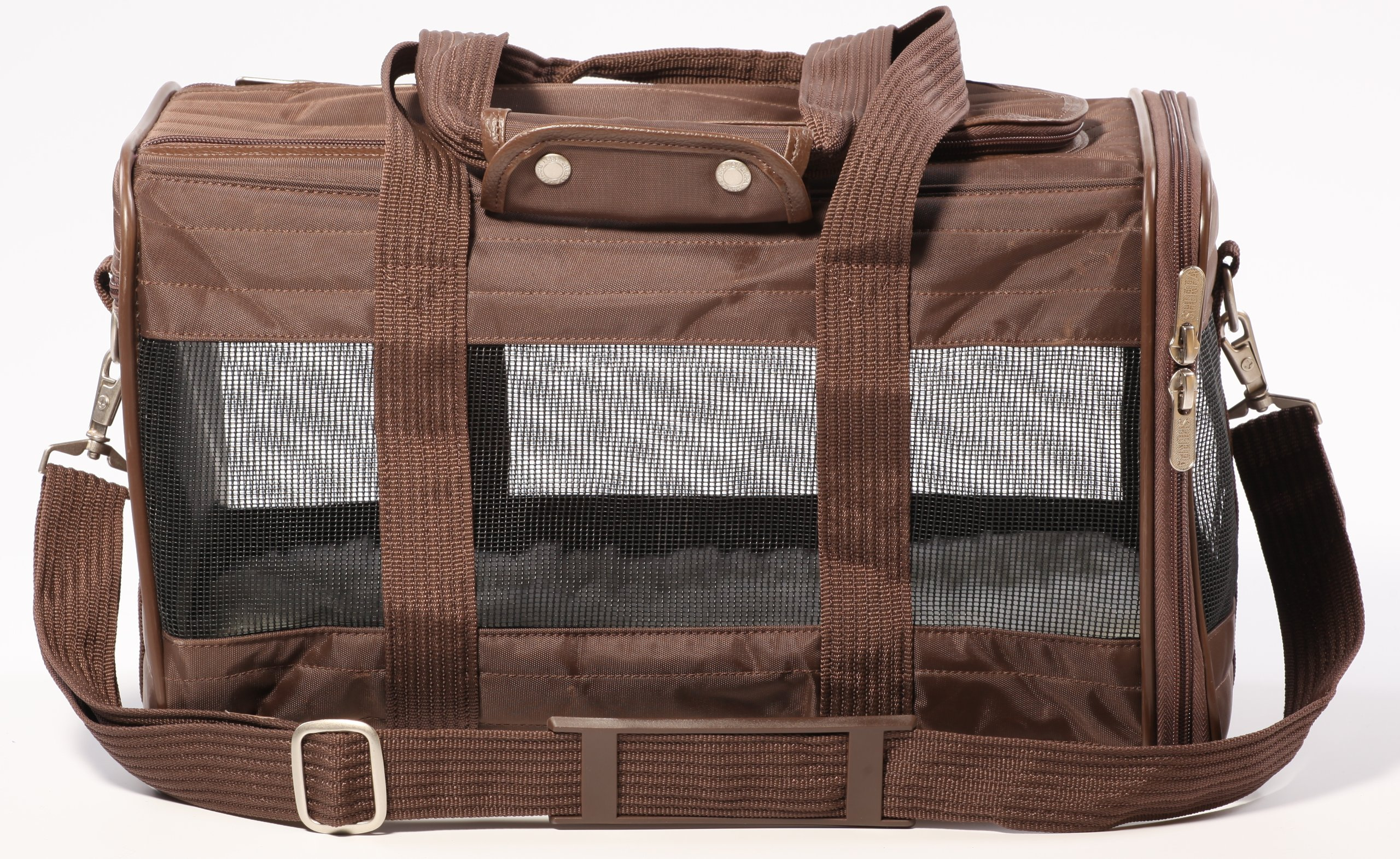 Sherpa Travel Original Deluxe Airline Approved Pet Carrier Small, Brown by Sherpa (Image #2)