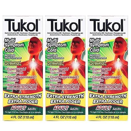 Tukol para la tos jarabe de , 2 unidades de 118,3 ml cada uno