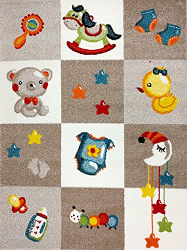 KC CUBS Boy and Girl Bedroom Modern Decor Area Rug and Carpet Collection