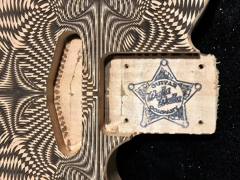 Telecaster Electric Guitar Body UNFINISHED Laser Etched Designs Paisley, Alder