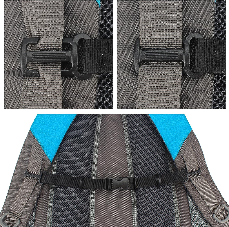para senderismo y salir a correr para ajuste pectoral en mochilas con hebilla Correa para el pecho Wisdompro con cierres laterales