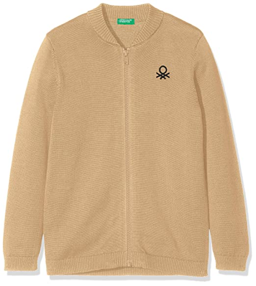 United Colors of Benetton L/s Sweater, Suéter para Niños, (Beige 1k3