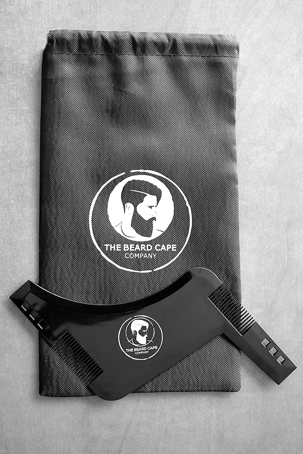 Best Beard Shaping and Styling Template Comb/Tool Accessory with FREE WASH BAG! The Beard Cape Company