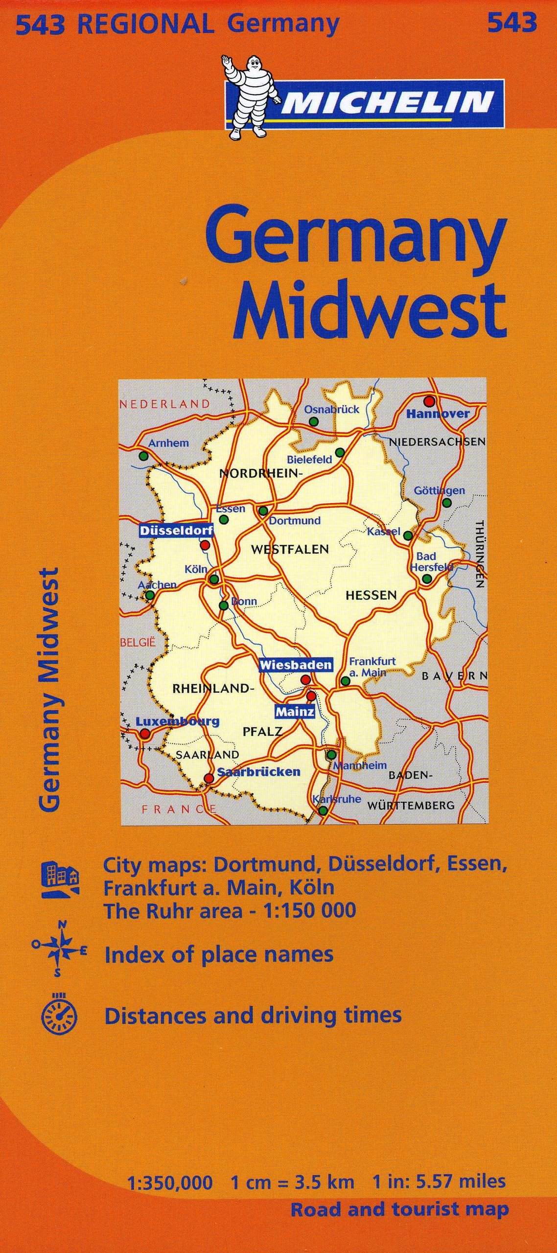 michelin germany midwest map 543 mapsregional michelin michelin 9782067186125 amazoncom books