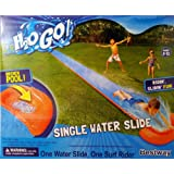 single water slide with drench pool and surf rider - Inflatable Pool Slide
