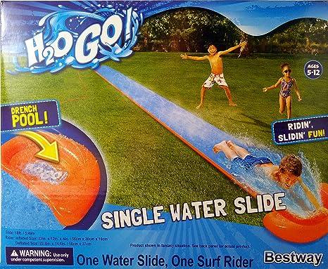 5.49m Orange Single Slide Bestway Outdoor Garden H2o Go 18ft
