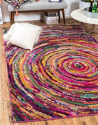 Unique Loom Barcelona Multicolor Rug (3'2 x 5'2)