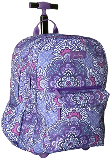 Amazon.com  Vera Bradley Women s Lighten Up Rolling Backpack, Lilac ... cdea1ba0a5