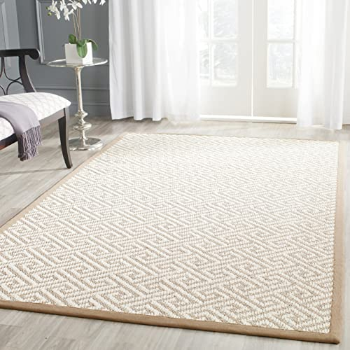 Safavieh Natural Fiber Collection NF462A Hand Woven Natural Sisal Area Rug 4 x 6