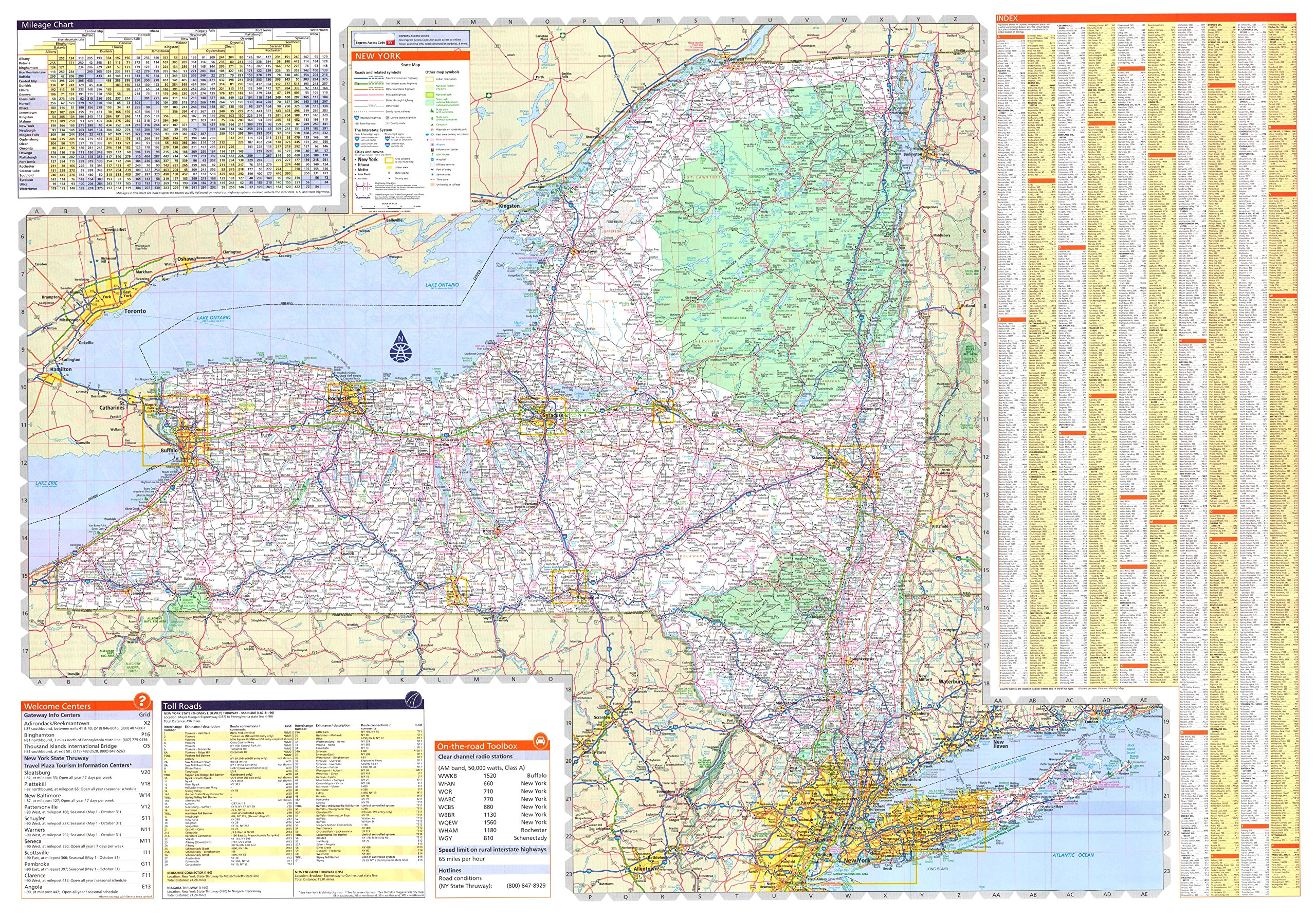 36x50 New York State Official Executive Laminated Wall Map ...