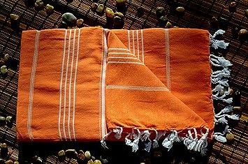 Amazoncom Pumpkin Orange 100 High Quality Cotton Towel Peshtemal