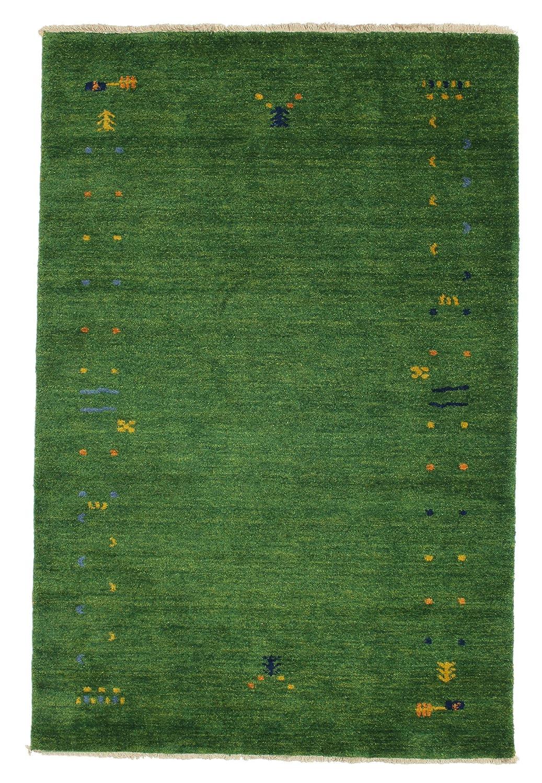 CarpetVista Gabbeh Loom - grün Teppich 120x180 Orientalischer Teppich