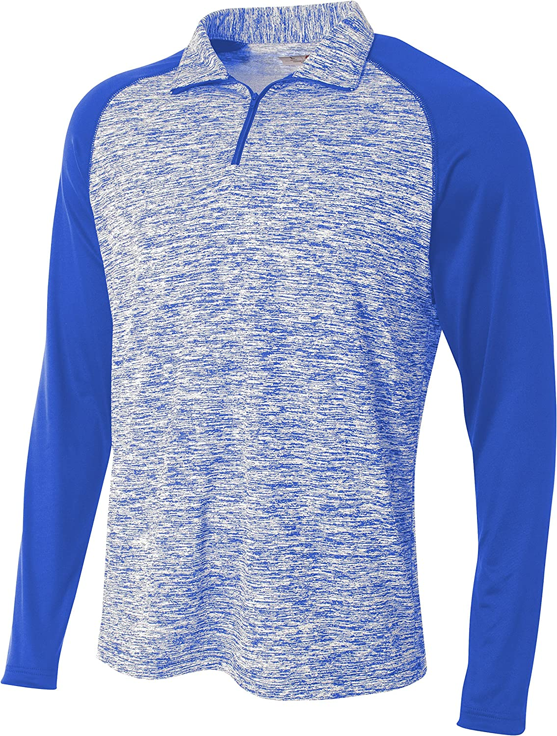 A4 Mens 1//4 Zip Space Dye with Contrast