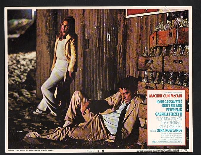 Amazon Com Movie Poster Machine Gun Mccain Lobby Card Britt Eckland And John Cassavetes Entertainment Collectibles