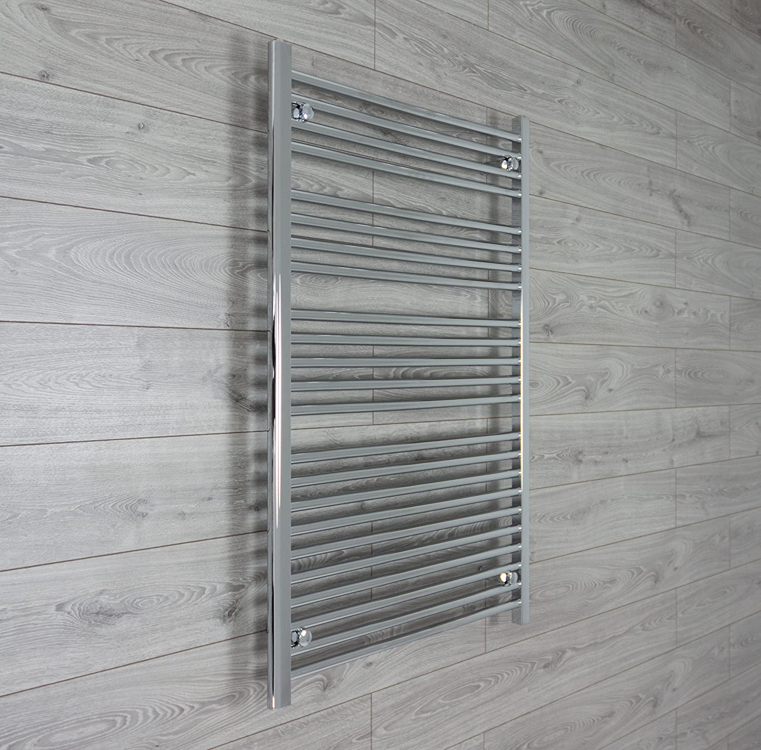800mm wide 1200mm high Chrome Heated Towel Rails Bathroom