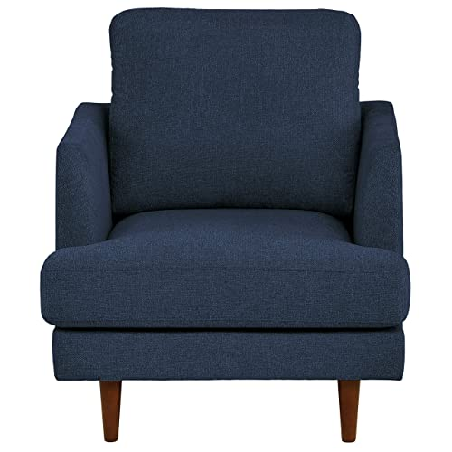 Rivet Goodwin Modern Living Room Accent Chair, 32.3 W x 35.8 H, Navy Blue