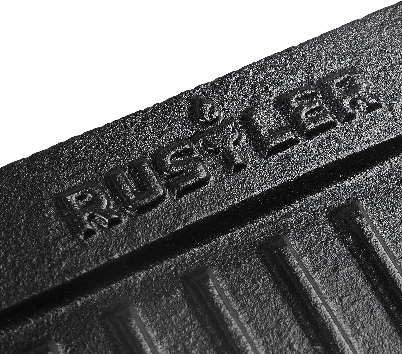 Rustler RS-4400 Plancha de Parrilla de Horno Holand/és con Asas Negro 35x35x5 cm