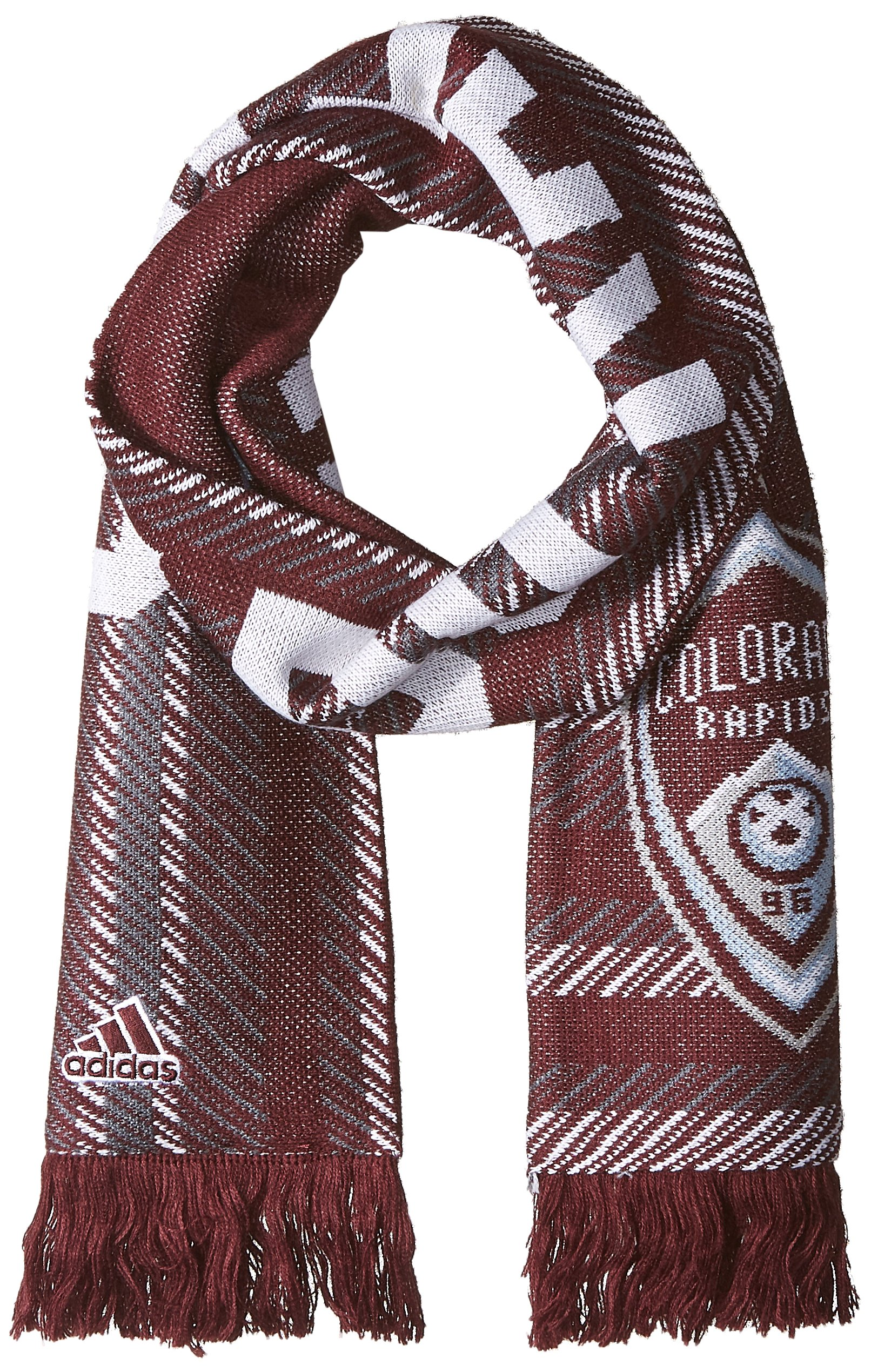 MLS Colorado Rapids Jacquard Scarf with Block Name, One Size, Maroon