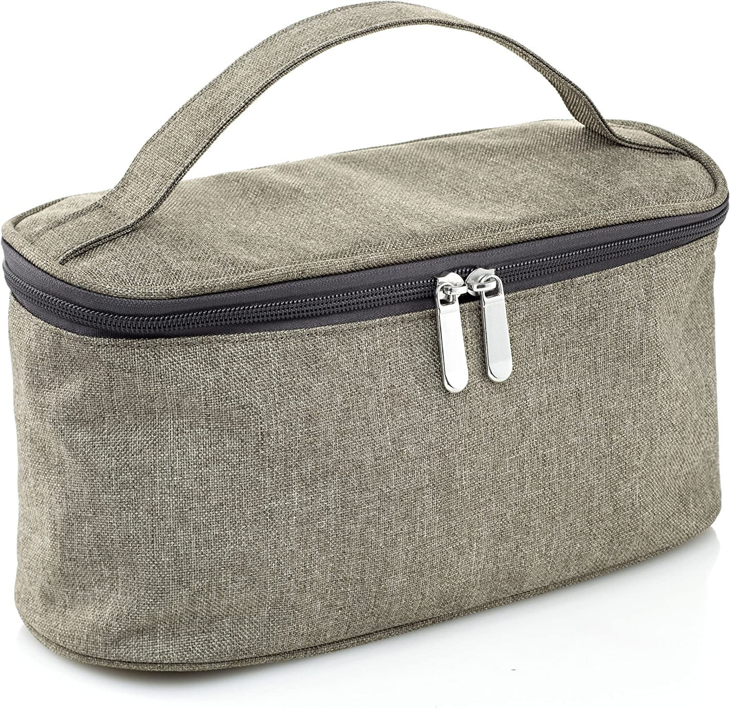 LeSac Large Cosmetic Bag with Mirror Travel Toiletry Bag Organizer Clutch Makeup Bag