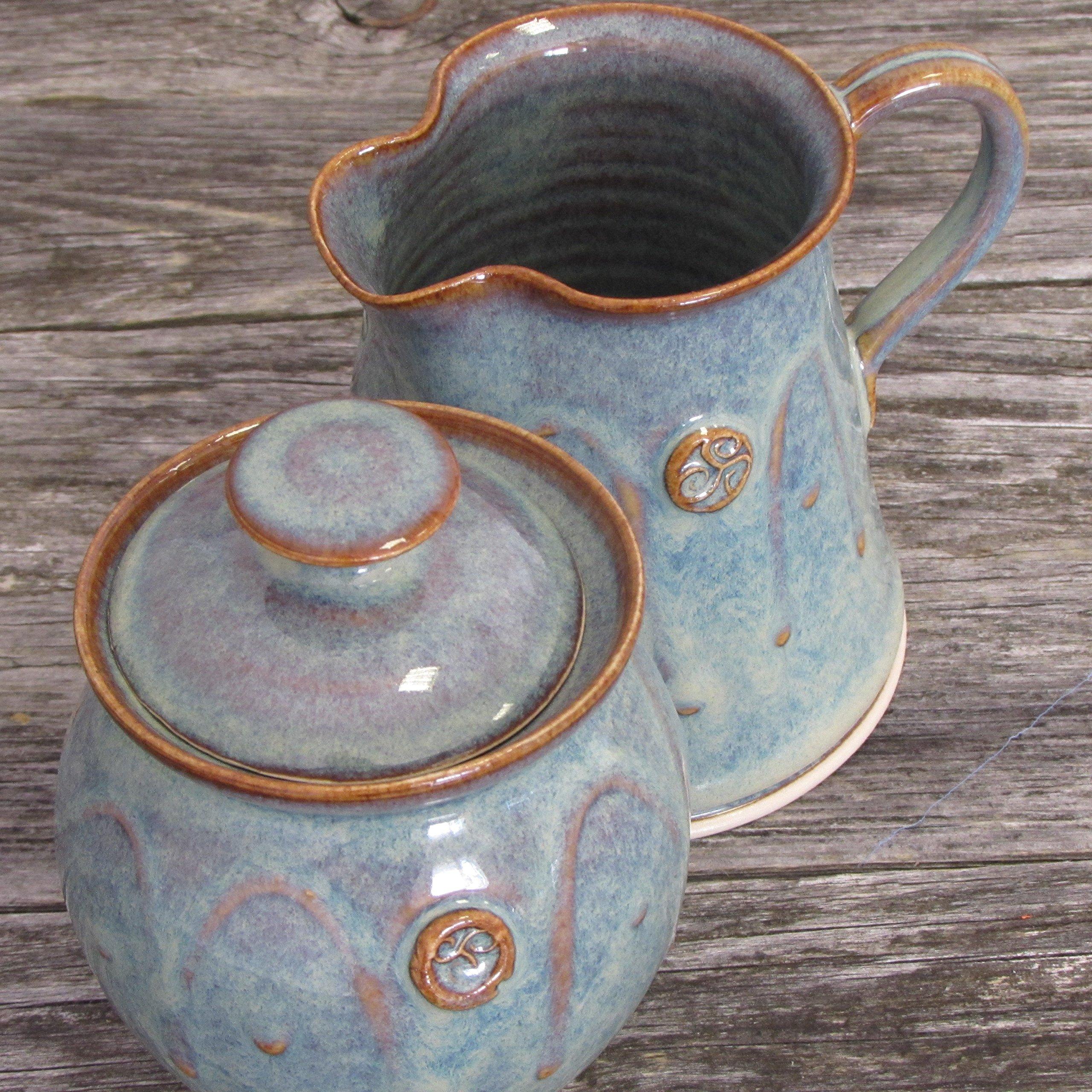 Handmade Irish Pottery Sugar and Creamer Set by Castle Arch Pottery Ireland (Image #5)