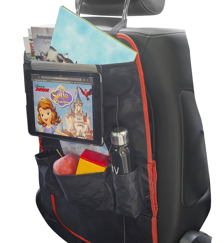 Protège siège pour enfant - organisateurs de voiture | MY carcaddy TO go | protection arrière de siege auto avec support tablette i-PAD | empêche les éraflures et les détériorat