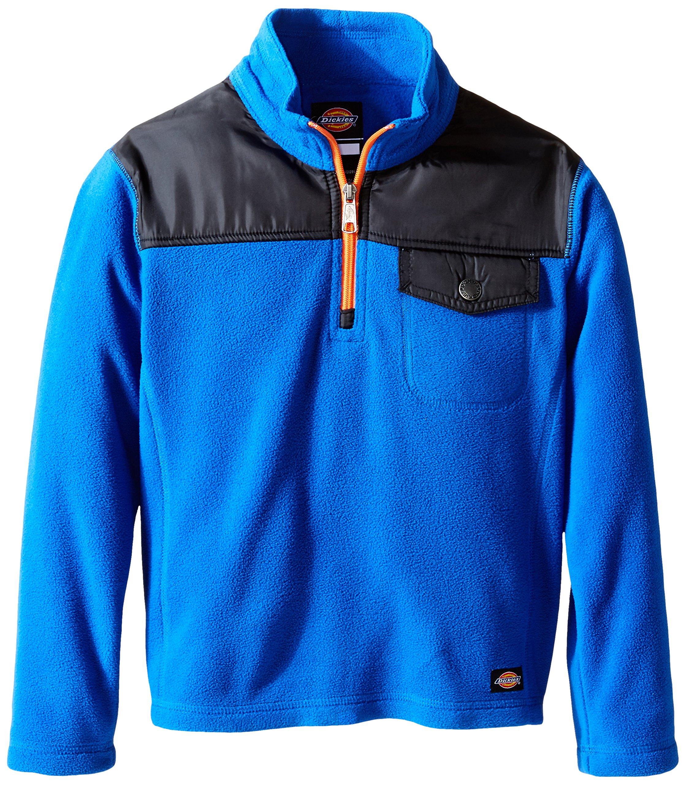 Dickies Big Boys' Quarter Zip Performance Fleece Jacket, Royal Blue, X-Large (18/20)