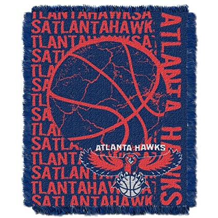 san francisco d0707 b92c1 The Northwest Company Officially Licensed NBA Atlanta Hawks Double Play  Jacquard Throw Blanket, 48 quot