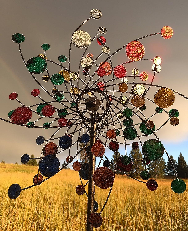 Amazon.com : MJ Spinner Designs Confetti Style Kinetic Wind Garden ...