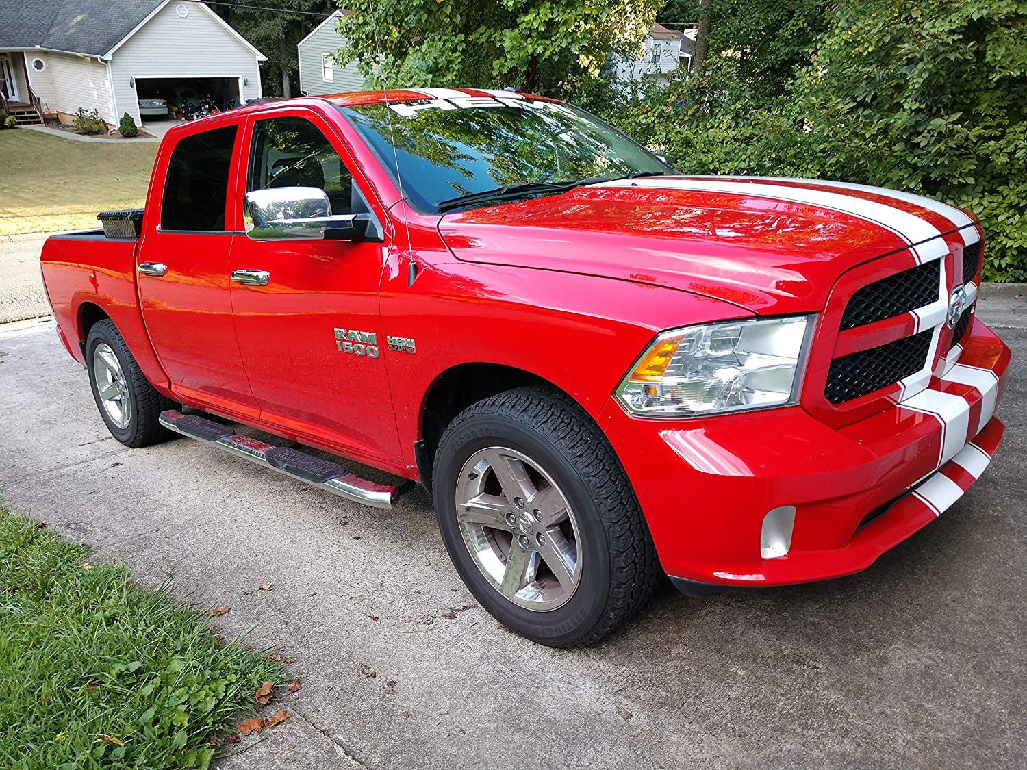 Mifeier 5 Curved Nerf Bars Side Steps Running Boards Fit 09-17 Dodge Ram 1500 Crew Cab With 4 Full Size Doors