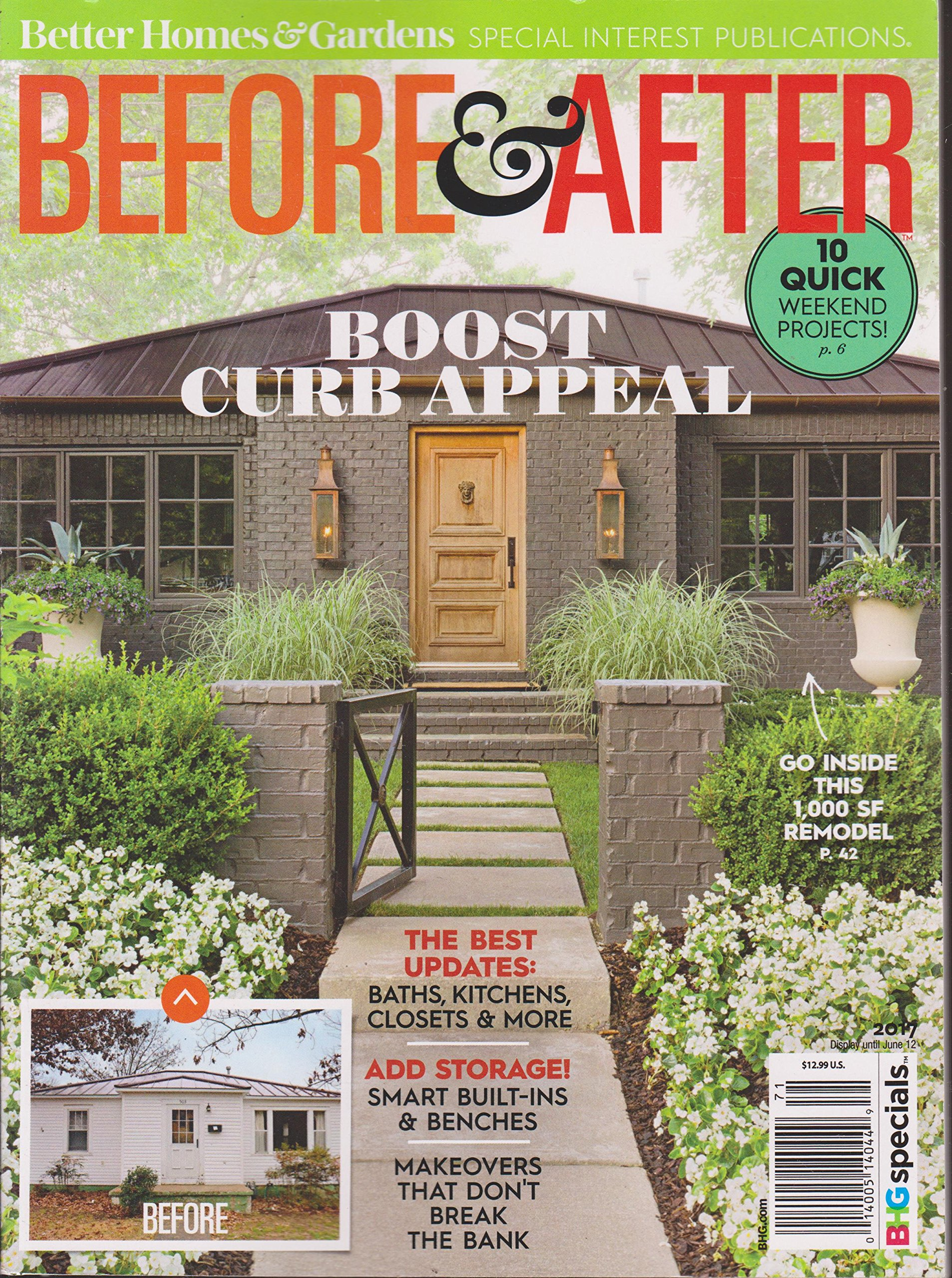 Better Homes Gardens Magazine Before After Magazine 2017