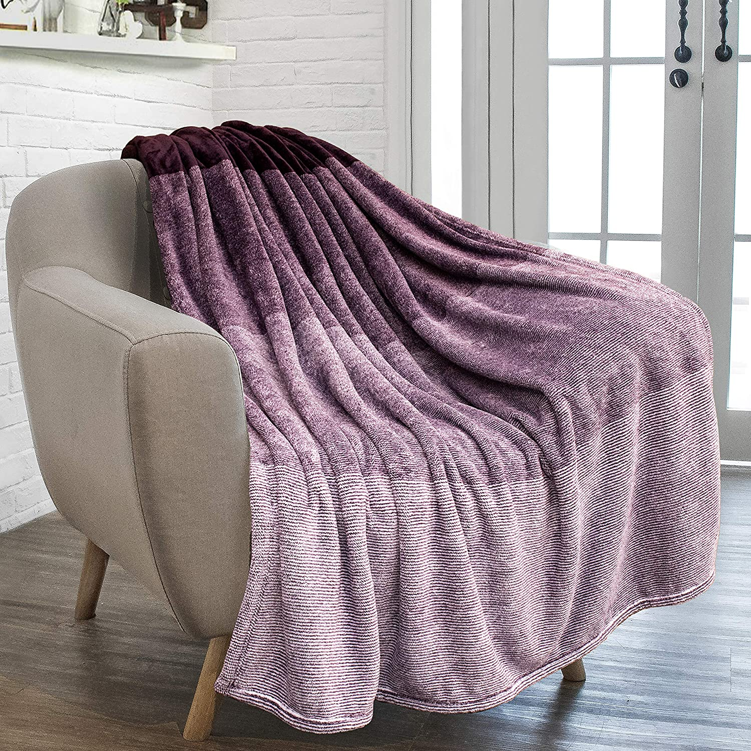 Decorative Velvet Throw for Couch Sofa Bed