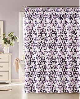 VCNY Veria 100 Cotton Shower Curtain Burgundy