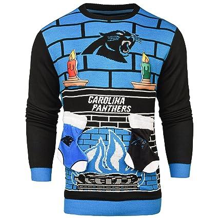 Amazoncom Carolina Panthers Ugly 3d Sweater Mens Double Extra