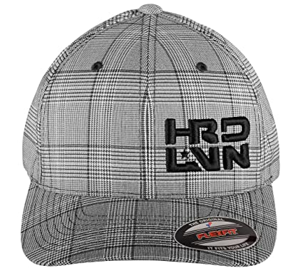 28e821fe148 Monsta Clothing Co. Stretch Fit (Pinstripe Plaid) CurvedBill Cap Hard Livin  (HRD