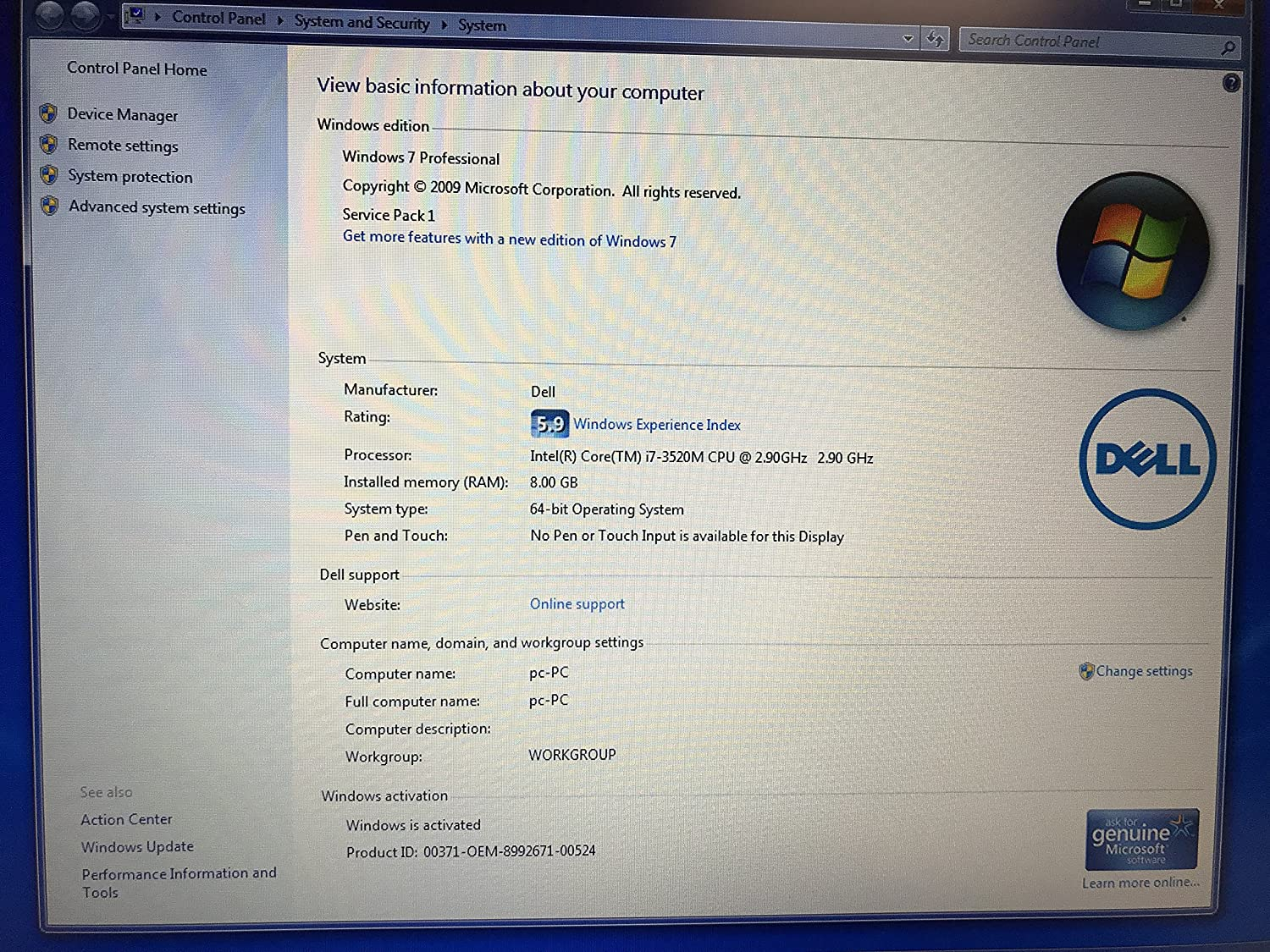 Amazon.com: Dell Latitude E6530 Core i7 3520M 2.90GHz 8GB 500GB nVidia 15.6