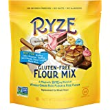 RYZE Gluten Free Flour - Two Ingredients, No Additives or Fillers, Cup-for-Cup Replacement, Yellow Bag - Waffles, Pancakes, Cinnamon Rolls, Pizza Crusts and Other Batter Recipes, 2lbs