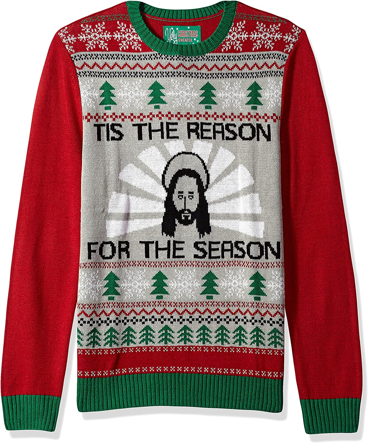 Ugly Christmas Sweater Mens Jesus B-Day Sweater